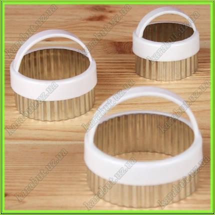 Формочки для печенья и вареников с ручкой из 3-х штук D7,5см D6см D4,5см, фото 2