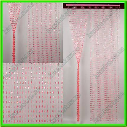 """Штора декоративная пластиковая """"Листик"""" Д22 розовый_H200см В90см, фото 2"""