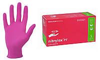 """Перчатки нитриловые Nitrylex Collagen (Розовые)S ОРИГИНАЛ"""", фото 1"""