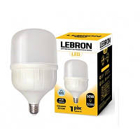 LED ЛАМПА LEBRON L-А138, 50W, Е27-Е40, 6500K, 4250LM, УГОЛ 240°