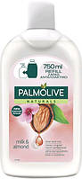 Palmolive жидкое мыло для рук Натурэль Увлажняющие молочко и миндаль 750 мл сменный блок