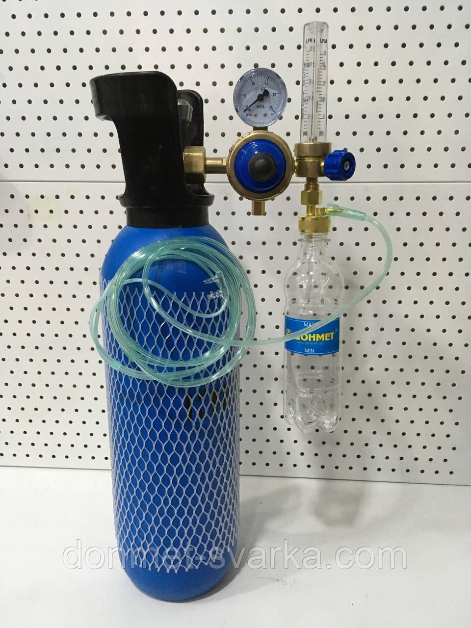 Кислородный баллон  5л с редуктором и увлажнителем для дыхания.