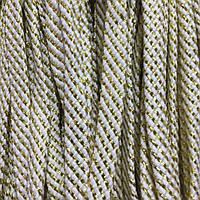 Шнур для одежды плоский 15мм цв белый/золото (уп 100м) арт.0507