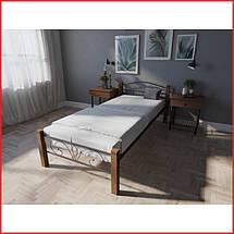 Кровать Лара Люкс Вуд / односпальная (Melbi), фото 2