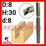 D8 H30 d8 заглибна пряма фреза пазова фреза АКУЛА Pobedit, фото 2