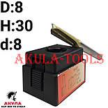D8 H30 d8 заглибна пряма фреза пазова фреза АКУЛА Pobedit, фото 3