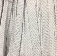 Шнур для одежды плоский х/б без наполнителя 16мм цв отбеленый (уп 100м) Ф