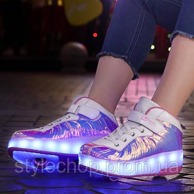 Кросівки на двох роликах Лід