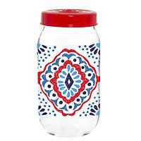 Банка стеклянная для хранения продуктов herevin Ажур 1 литр (171541-064)