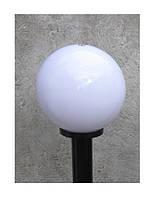 """Светильник парковый уличный """"Столб"""" 0.50 м с базой для столба и шар φ250мм белый IP44, фото 2"""