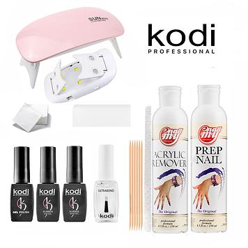 Стартовый набор гель лаков Kodi LED+UV Lamp SUN Mini 6W