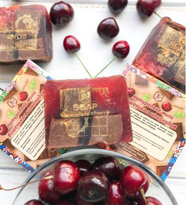 Натуральное Мыло Ручной Работы Вишенка с шоколадом 100 г - полезное, от сухости и шелушений кожи тела и рук