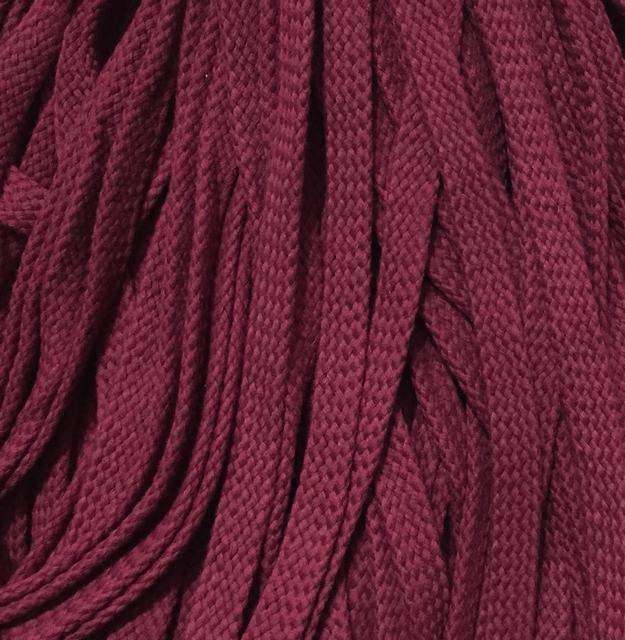 Шнур для одежды без наполнителя х/б 16мм цв бордовый (уп 100м) Ф