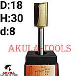 D18 H30 d8 заглибна пряма фреза пазова фреза АКУЛА Pobedit, фото 4