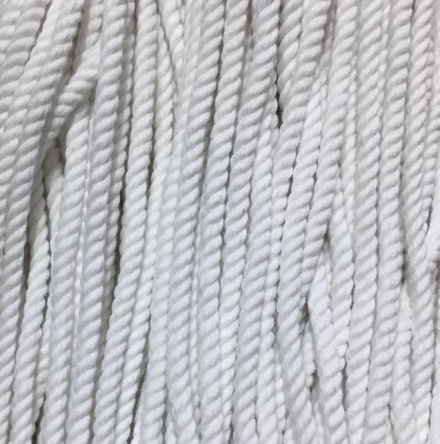 Шнур для одежды без наполнителя х/б 5мм цв отбеленный (уп 100м) Ф