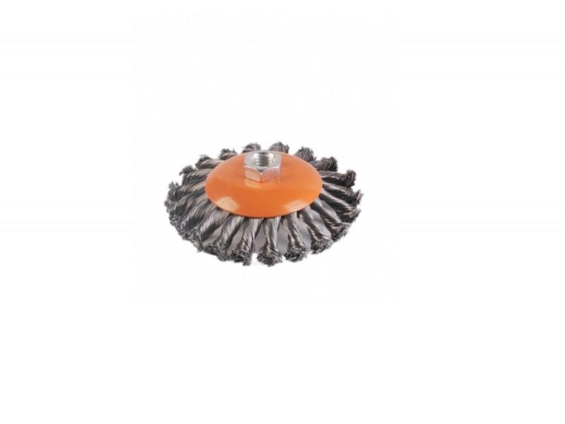 5240402 Щетка конусная 125мм для УШМ, пучки   стальной проволоки