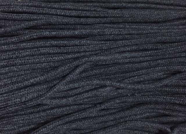 Шнур для одежды с наполнителем х/б 5мм цв серый темный (уп 100м) Ф