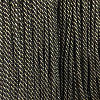 Шнур декоративный люрекс с наполнителем п/э 4мм цв черный с золотом (уп 100м) Ф