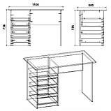 """Письменный стол с выдвижными ящиками """"Декан"""", фото 2"""