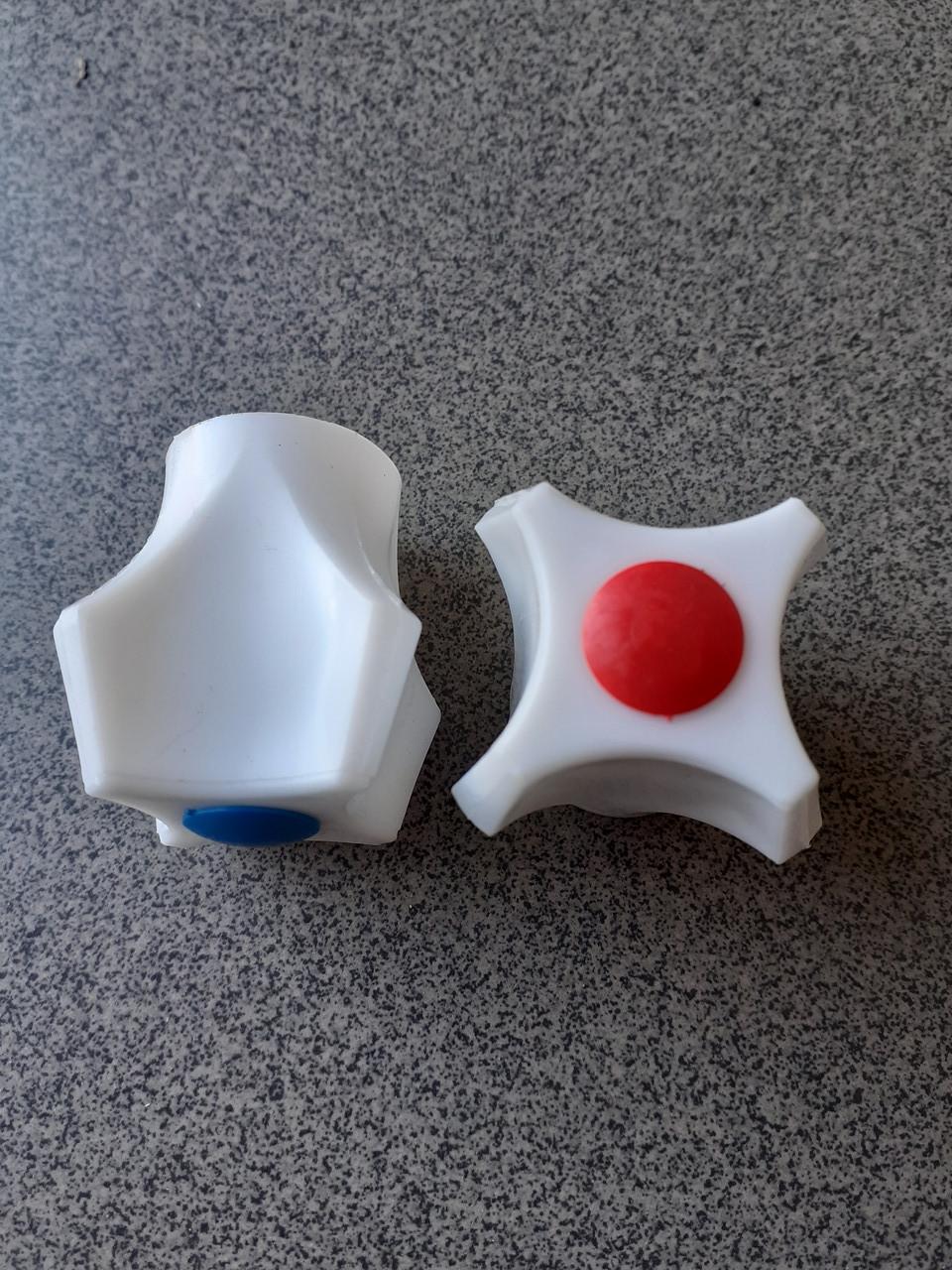 Ручка на буксу Сумы, пластик белая короткая