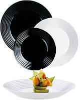 СЕРВИЗ Luminarc Harena Black & White  из 18 предметов 🍽 N1518, фото 1