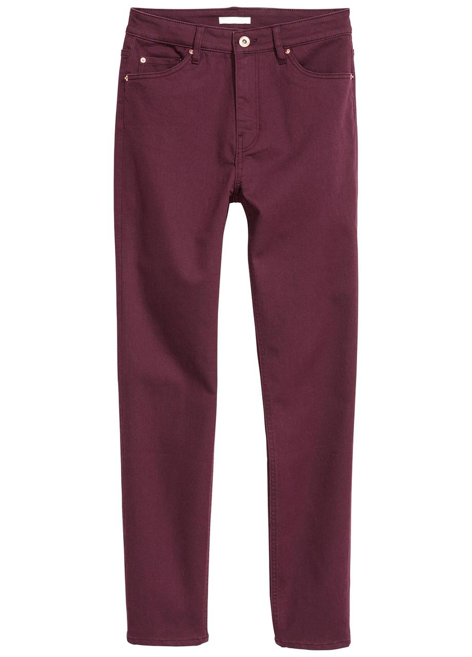 Фиолетовые демисезонные зауженные джинсы H&M