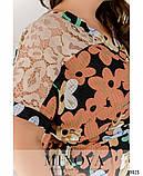 Летнее батистовое платье батал Minova Размеры: 50-52, 54-56, 58-60, 62-64, фото 2