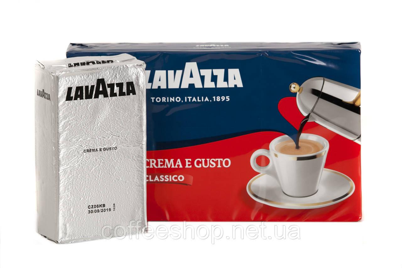 Молотый кофе Lavazza Crema e Gusto в серой пачке 250 г (Италия)