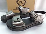 Комфортні шкіряні сандалі на платформі Milli Gold, фото 5
