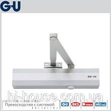 Доводчик для тяжелых дверей GU OTS 536 (коленная тяга) серебро/коричневый/белый