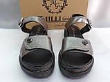 Комфортні шкіряні сандалі на платформі Milli Gold, фото 8