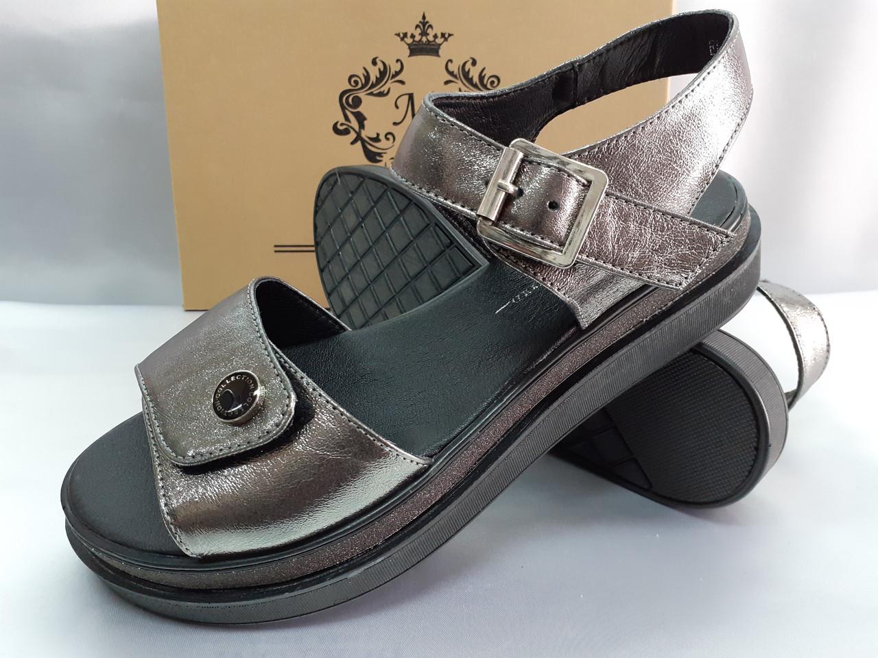 Комфортні шкіряні сандалі на платформі Milli Gold