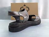 Комфортні шкіряні сандалі на платформі Milli Gold, фото 9