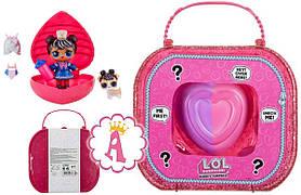 Игровой набор Lol Surprise Чемодан Шипучий Сердце-Сюрприз Кукла и Питомец SKL52-239499