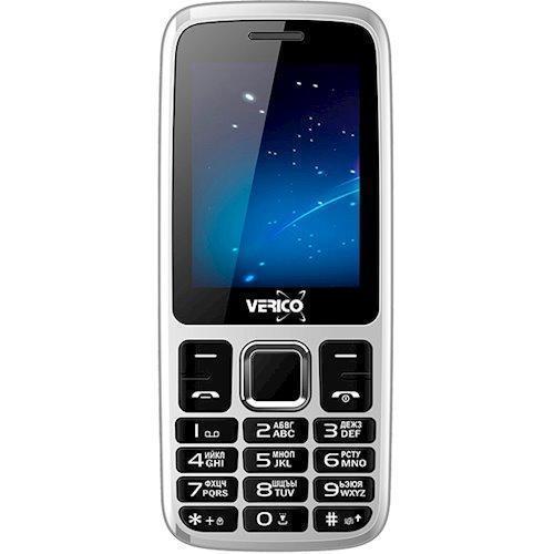 Мобильный телефон с удобными кнопками и фонариком на 2 сим карты Verico B241 White