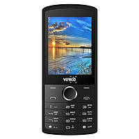 Кнопочный телефон с большим дисплеем и камерой на 2 сим карты Verico C281 Black-Gold