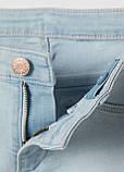 Голубые демисезонные зауженные джинсы H&M, фото 2