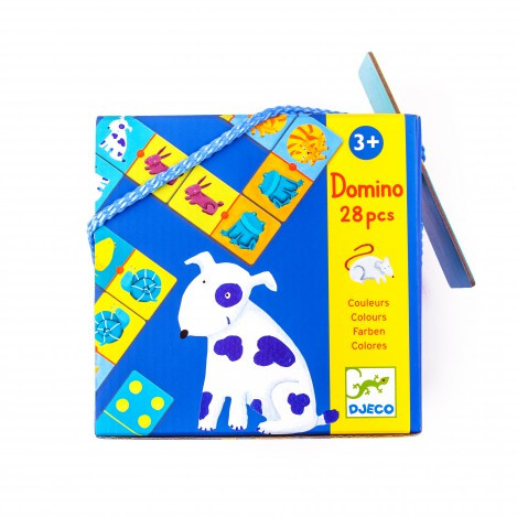 Гра дитяче доміно кольори тварин Djeco (DJ08111)