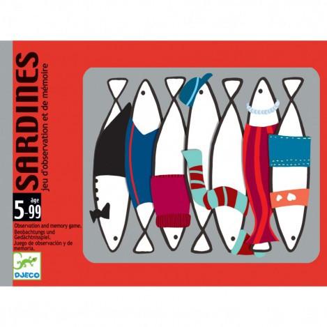 Настільна карткова гра сардини djeco (DJ05161)