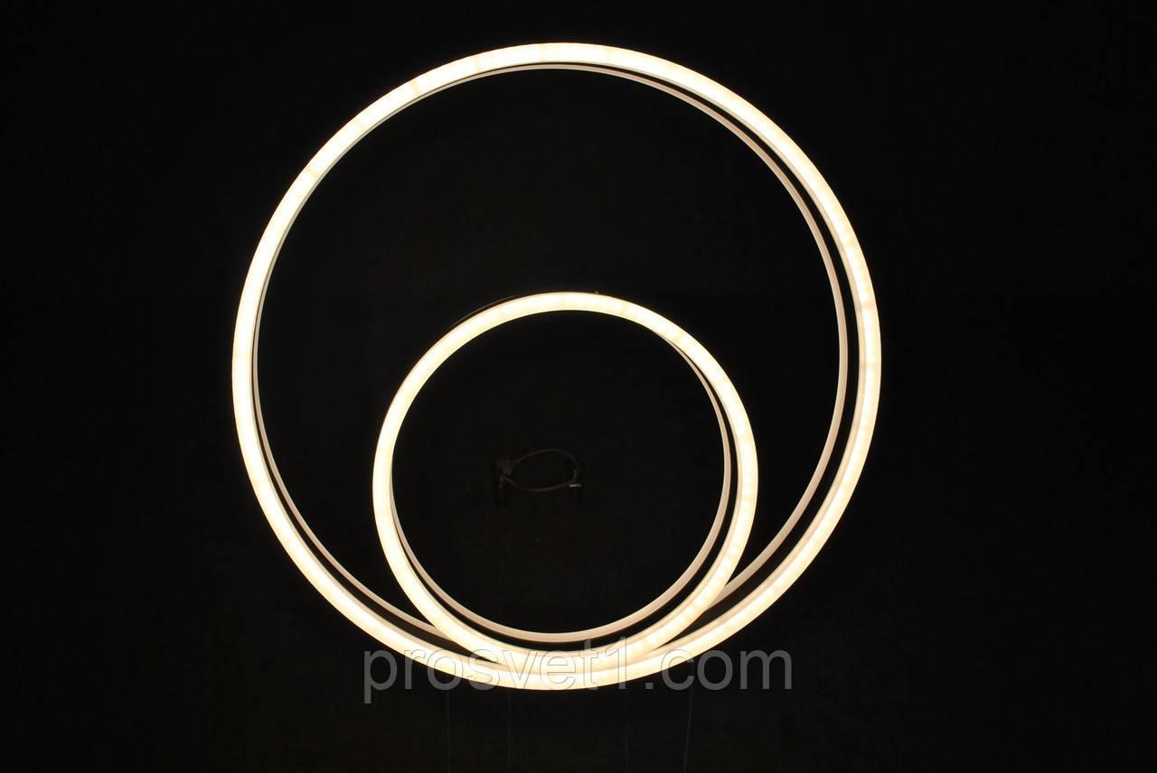 Люстра стельова світлодіодна з пультом управління B7702 CF 180W