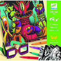 Набор для творчества с 3d эффектом Веселые Монстры (DJ08651), фото 3