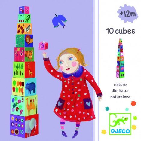 Пірамідка забавні кубики мої друзі djeco (DJ08505)