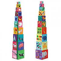 Пірамідка забавні кубики мої друзі djeco (DJ08505), фото 9