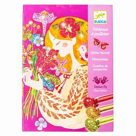 Художній комплект малювання блискітками аромат квітів djeco (DJ09508)