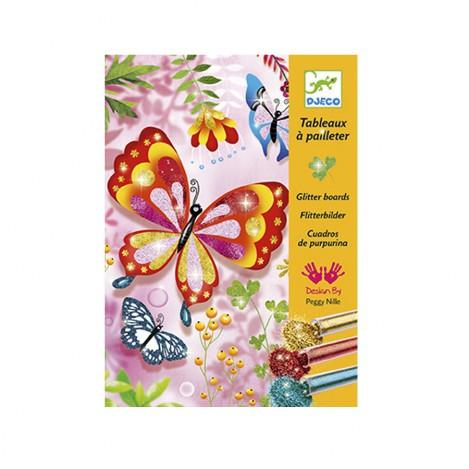 Художній комплект малювання блискітками блискучі метелики djeco (DJ09503)