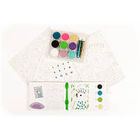 Художній комплект малювання кольоровим піском сліпучі птиці Djeco (DJ08663), фото 4