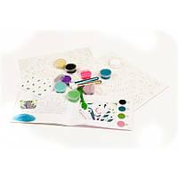 Художній комплект малювання кольоровим піском сліпучі птиці Djeco (DJ08663), фото 7