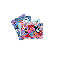 Художній комплект малювання кольоровим піском і блискітками райдужні рибки djeco (DJ08661), фото 2