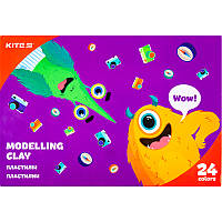Пластилин восковый Kite Jolliers K20-089, 24 цвета, 480 г