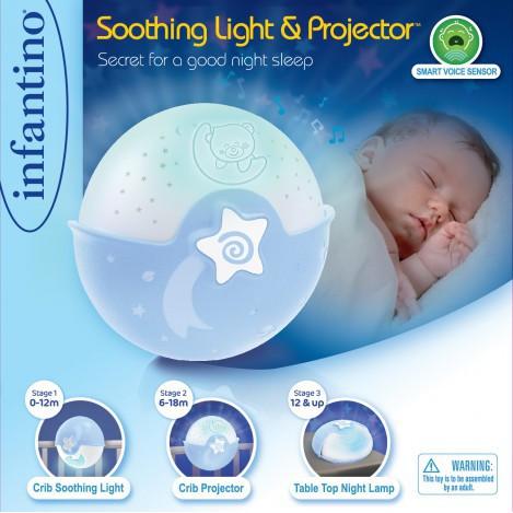 Світильник спокійні сни блакитний Infantino (004627I)